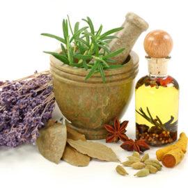 Aceites vegetales y extractos de plantas